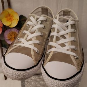 Clear Converse All Star Sneakers